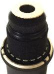 Capsule showing integrated foam plosive filter